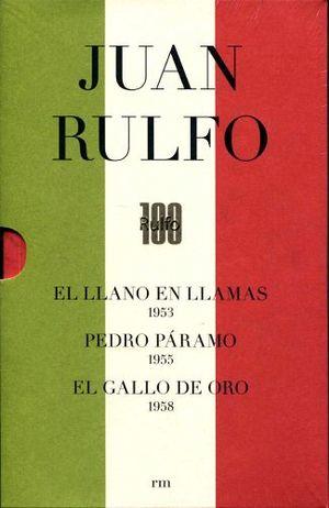 PAQUETE JUAN RULFO -ED.BANDERA 100 AÑOS- (C/3 LIB.LLANO/PEDRO/GAL