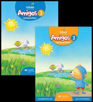 AMIGOS LECTOESCRITURA 3 PREESC. (ED.2018) C/CUAD. DE ACTIVIDADES