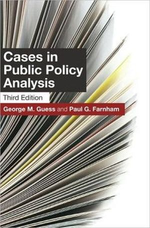 CASES IN PUBLIC POLICY ANALYSIS 3TH
