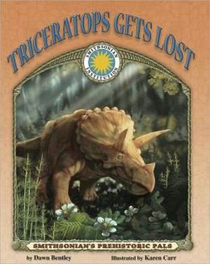 TRICERATOPS GETS LOST BOOK W/CD -HARDCOVER-