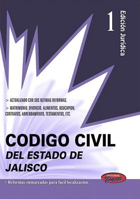 CODIGO CIVIL DEL ESTADO DE JALISCO 2018 (CONSULTA EXPRESS 1