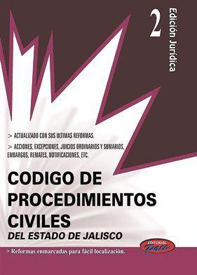 CODIGO DE PROCEDIMIENTOS CIVILES DE JALISCO 2018 (CONSULTA EXP.2)