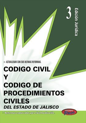 CODIGO CIVIL Y DE PROCED. CIVILES DE JALISCO 2018 (ED.JURIDICA 3)