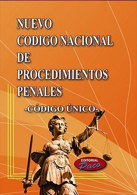 NUEVO CODIGO NACIONAL DE PROCED.PENALES 2018 -CODIGO UNICO-