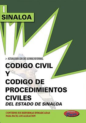 CODIGO CIVIL Y DE PROCED. CIVILES DE SINALOA 2018