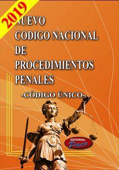 NUEVO CODIGO NACIONAL DE PROCED.PENALES 2019 -CODIGO UNICO-