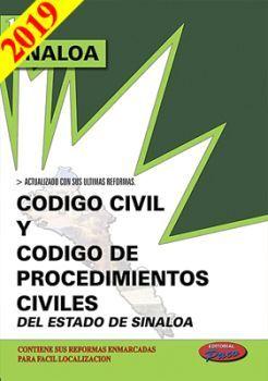 CODIGO CIVIL Y DE PROCED. CIVILES DE SINALOA 2019
