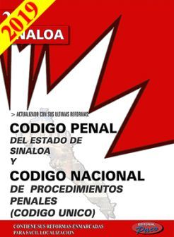 CODIGO PENAL DE SINALOA Y COD.NAC.DE PROC.PEN.2019