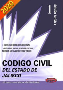 CODIGO CIVIL DEL ESTADO DE JALISCO 2020 (EDIC. JURIDICA)