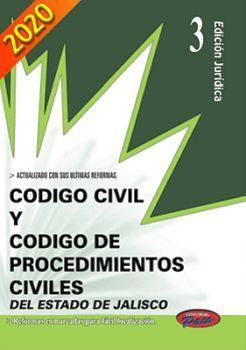 CODIGO CIVIL Y DE PROCED. CIVILES DE JALISCO 2020 (ED.JURIDICA)