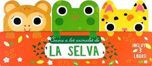 CONOCE A LOS ANIMALES DE LA SELVA         (C/3 LIBROS/CARTONE)