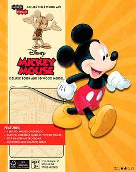 MICKEY MOUSE -LIBRO EDICION DE LUJO-      (C/MODELO DE MADERA)