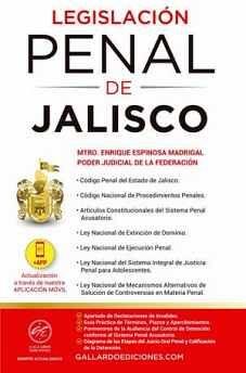 LEGISLACION PENAL DE JALISCO 2021 (C/CODIGO PENAL/NAC.PROC.PEN.)