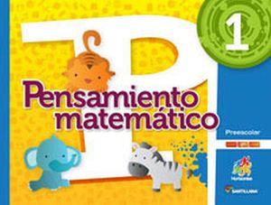 PENSAMIENTO MATEMATICO 1 PREESC.  -S.HORIZONTES- (PACK C/CD)