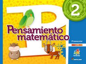 PENSAMIENTO MATEMATICO 2 PREESC.  -S.HORIZONTES- (PACK C/CD)