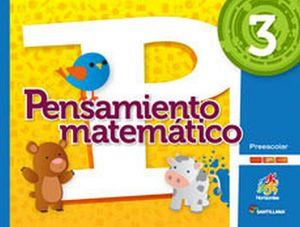 PENSAMIENTO MATEMATICO 3 PREESC.  -S.HORIZONTES- (PACK)
