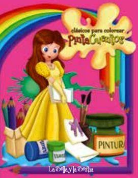 CLASICOS PARA COLOREAR PINTA C. -LA BELLA Y LA BESTIA- (C/CRAYOLA