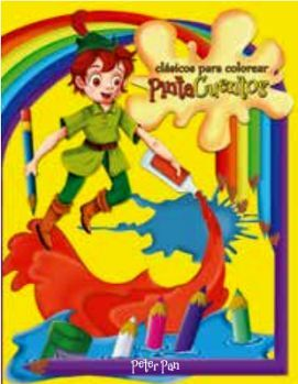 CLASICOS PARA COLOREAR PINTA C. -PETER PAN- (C/CRAYOLAS)