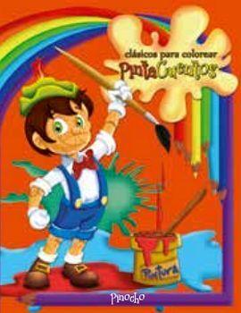 CLASICOS PARA COLOREAR PINTA C. -PINOCHO- (C/CRAYOLAS)