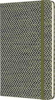 LIBRETA BLEND JACQUARD VERDE (HOJA RAYADA/EMPASTADO)