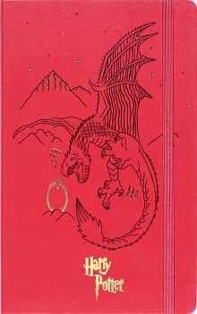 LIBRETA GRANDE HARRY POTTER ROJO  (HOJA RAYADA/EMPASTADO)