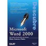 DESCUBRE MICROSOFT WORD 2000