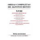OBRAS COMPLETAS XVIII ESTUDIOS HELENICOS