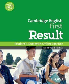 CAMBRIDGE ENGLISH FIRST RESULT BOOK & ONLINE SKILLS PRACTICE