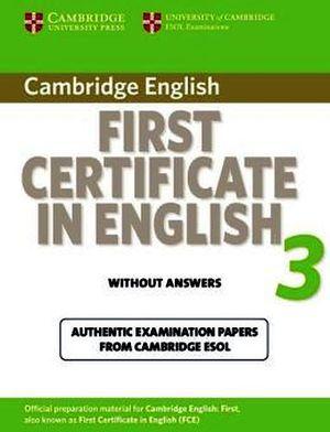 CAMBRIDGE FCE IN ENGLISH 3 ST'S BOOK NO KEY