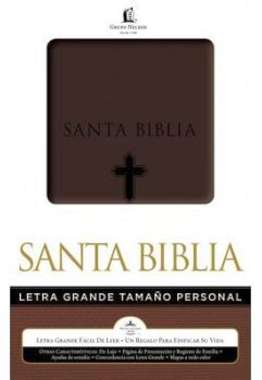 SANTA BIBLIA LETRA GRANDE TAMAÑO PERSONAL (CAJA/CAFE)