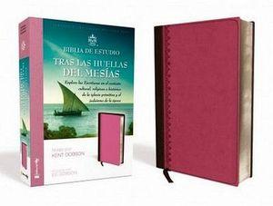 BIBLIA DE ESTUDIO -TRAS LAS HUELLAS DEL MESIAS- (ROSA/MARRON)