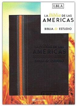 BIBLIA DE LAS AMERICAS -BIBLIA DE ESTUDIO- (CAJA/CAFE/PIEL/LBLA)
