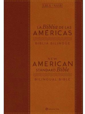 BIBLIA DE LAS AMERICAS -BILINGUE- (CAJA C/BIBLIA CAFE/PIEL/LBLA)