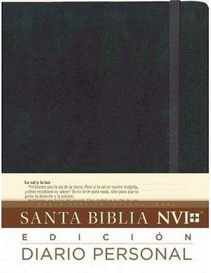 SANTA BIBLIA -DIARIO PERSONAL/NEGRO- (NVI)