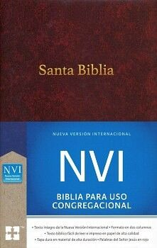 SANTA BIBLIA -BIBLIA PARA USO CONGREGACIONAL- (NVI/CAFE/EMP)