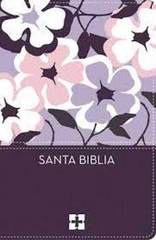 SANTA BIBLIA ULTRAFINA NVI COMPACTA (MORADA/FLORES/PIEL/CAJA)