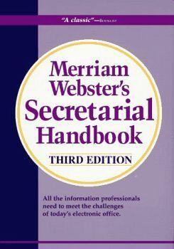 MERRIAM WEBSTER'S SECRETARIAL HANDBOOK 3ED.