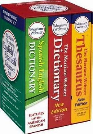 MERRIAM-WEBSTER'S SET ENGLISH & SPANISH REFERENCE 2014