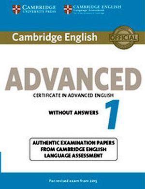 CAMBRIDGE ENGLISH ADVANCED 1 FOR REVISED EXAM BOOK