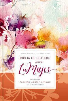BIBLIA DE ESTUDIO PARA LA MUJER           (EMPASTADA/FLORES/NVI)