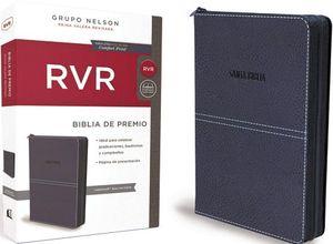 BIBLIA DE REGALO RVR AZUL CON CIERRE COMFORT PRINT