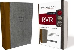 BIBLIA ULTRAFINA COMPACTA (TELA/OCRE/GRIS/RVR)