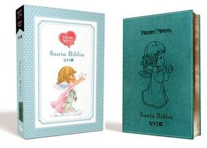 SANTA BIBLIA PRECIOUS MOMENTS (PIEL/CAJA/AZUL/NVI)