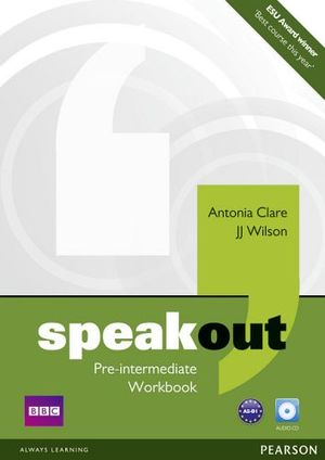 SPEAKOUT PRE-INTER WORKBOOK W/AUDIO CD