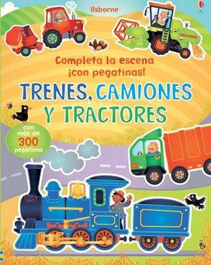 COMPLETA LA ESCENA CON PEGATINAS -TRENES,CAMIONES Y TRACTORES-