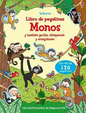 LIBRO DE PEGATINAS -MONOS Y TAMBIEN GORILAS, CHIMPACES Y ORANG.-