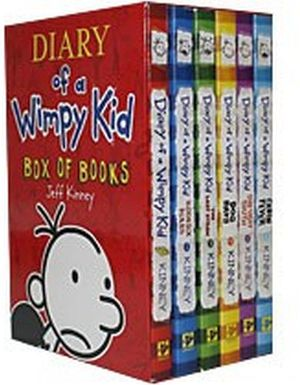 DIARY OF A WIMPY KID BOX OF BOOKS 1-6