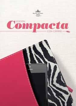 SANTA BIBLIA -ED. COMPACTA/PIEL FUCSIA/CON CIERRE/REINA VALERA-