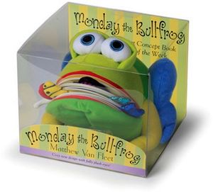 MONDAY THE BULLFROG: A HUGGABLE PUPPET CONCEPT BOOK