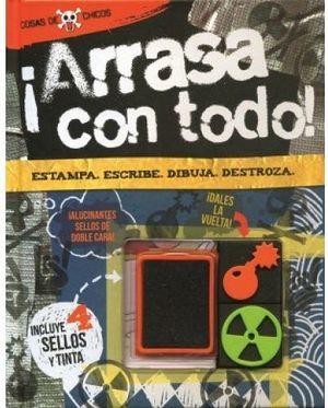 ARRASA CON TODO!        -COSAS DE CHICOS-(C/4 SELLOS DE TINTA)